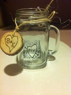 Bride And Groom Name Date Mason Jar Wedding Favorsmason