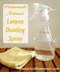 DIY Homemade Natural Lemon Dusting Polish Spray