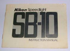Nikon Speedlight SB-10 Camera Flash - Genuine Vintage Instruction Manual  #NIKON Vintage Cameras, Nikon, Manual, Ebay