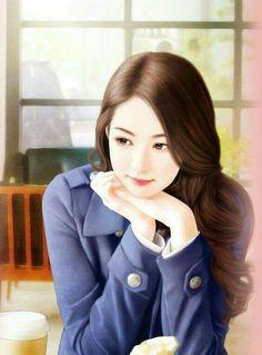 Anime Girl Cute, Anime Art Girl, Korean Art, Asian Art, Art Chinois, Lovely Girl Image, Cute Girl Drawing, Cute Girl Poses, Girly Pictures