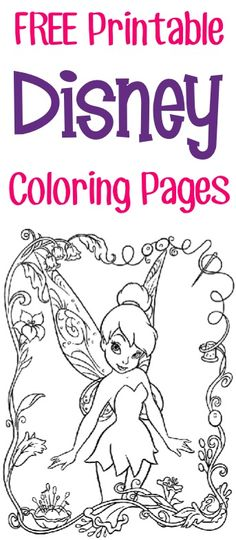 FREE Printable Disney Coloring Pages {Princess, Fairies, Pirates   more}