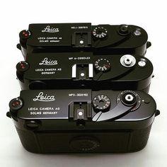 Nice collection from @japancamerahunter : MP3 MP6 M3J . . . #passionleica #Leica #leicamp3 #leicam3j #leicamp6