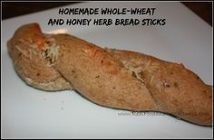 Homemade Whole Wheat and Honey Herb Bread Sticks.  Clean Eating. Real Food.