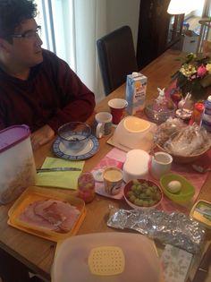 José desayunando en Alemania