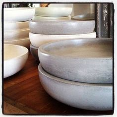 Solid Concrete bowls available from Bespoke by Eddie da Silva Concrete Bowl, Bespoke Design, Bowls, Retail, Tableware, Decor, Custom Design, Serving Bowls, Dinnerware