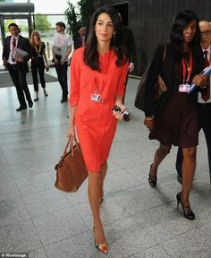 Amal Alamuddin conference outfit