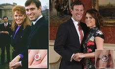 Eugenie's sapphire bears resemblance to Fergie's ruby ring