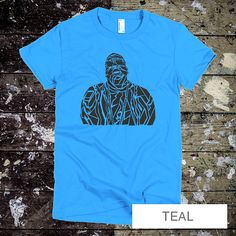Biggie Smalls T-Shirt - Biggie Men's tee - Hip Hop Rap R&B music S-XL -  Women's Teal T-shirt
