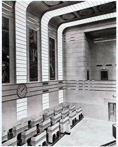 Toronto Stock Exchange Trading Floor. 1937 via art-deco-architecture-toronto