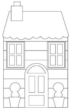 House printable House Quilt Patterns, House Quilt Block, House Quilts, Fabric Houses, Paper Houses, Quilt Blocks, Wool Applique Patterns, Sewing Appliques, Applique Quilts