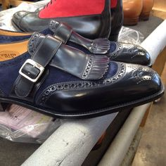 That blue is fire! Loafer Shoes, Loafers, Designer Dress Shoes, Edward Green, Gentleman Shoes, Italian Leather Shoes, Monk Strap Shoes, Only Shoes, Dress With Boots
