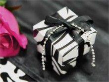 Black/White Zebra 2pc Favor Boxes $44.99 for 100 boxes