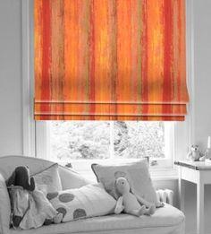 This Seasons Colour Punch Burnt Orange Roman Blind Wooden Window Blinds, Blinds For Windows, Orange Roman Blinds, Burnt Orange Bathrooms, Silver Blinds, Bathroom Blinds, House Blinds, Season Colors, Autumn Inspiration