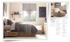 Light fixture and bed (RH)