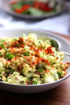 Deviled Avocado Egg Salad {Paleo, Whole30, Mayo-Free}