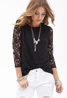 Crochet Lace Top | FOREVER21 - 2000058694