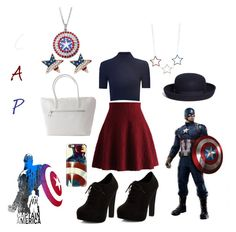 """Captain America 2"" by babe-b8 ❤ liked on Polyvore featuring Casetify, Glamorous, Chicwish, New Look, Brooks Brothers, Red Camel, redwhiteandblue, marvel, disneybound and fourthofjuly"
