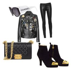 Untitled #92 by whatscooljay on Polyvore featuring polyvore, fashion, style, Coach, rag & bone/JEAN, Chanel and clothing