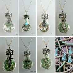 Sterling Silver Roman Glass in a Bottle Necklace with Charms Necklaces 925 Israeli Jewelry by Bluenoemi on Etsy