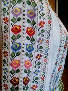 Ukraine, from Iryna Cross Stitch Embroidery, Hand Embroidery, Cross Stitch Patterns, Embroidery Designs, Types Of Stitches, Stitch 2, Ukraine, Diy And Crafts, Costumes