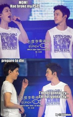 Kyuhyun and Donghae of Super Junior