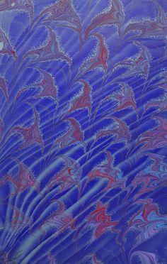 Marbled paper by Maureen Hoffman Garrett