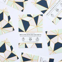 Jumping into the new year with this geometric patterned #design by @elizabethgraciela | #weddinginvitation #pattern #paperlust #weddingstationary #weddinginspiration #weddinginvites