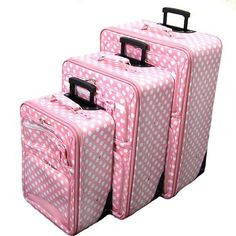 pink luggage - Google Search