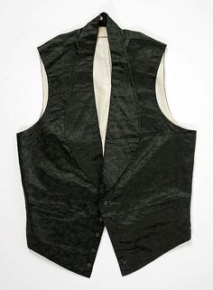 Waistcoat Date: ca. 1860 Culture: American Medium: silk Dimensions: Length at CF: 24 3/8 in. (61.9 cm) Credit Line: Gift of Mrs. Frederick van Beuren Joy, in memory of Mrs. Jacob Harsen Halsted, 1983 Accession Number: 1983.479.13
