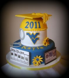 How awesome is this WVU graduation cake?! I want this for the day I graduate with my doctorate!!
