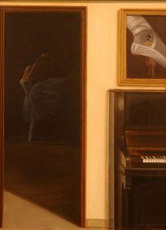Obra denominada MUSICA Y DANZA óleo sobre lienzo.