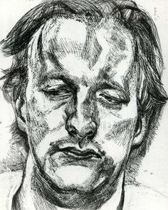 """Lucian Freud : """" The painter must give a completely free rein to any feeling or sensations he may have and reject nothing to which he i..."""