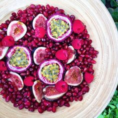 """thrivingonplants: """" Bowl of pomegranates, figs, raspberries & passionfruit ✨ SO NOW THAT THE @pomlifeau COMP IS OVER, THE WINNERS HAVE BEEN CHOSEN BY @pomlifeau, @panaceas_pantry & I! Congrats to..."""