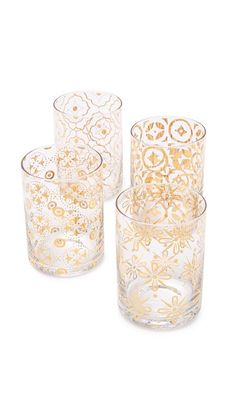Want to add a elevated ambiance to your holiday party? The gold designed glass cups are great to spice up any event.   Gift Boutique Kashmir Glass Set