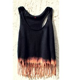 boho hippy dip dyed crop tank