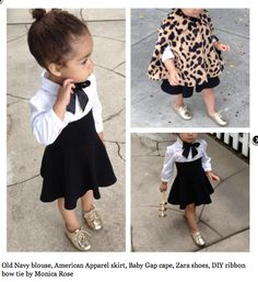Sew a black skirt to tuxedo shirt, and add a black ribbon tie around the collar!! So freakin cute