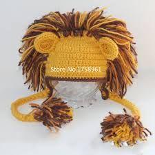 Resultado de imagen para gorros con motivo rey leon  en crochet