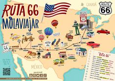 Travel Route, Travel Maps, Travel And Tourism, Travel Usa, Route 66, Road Trip Across America, Going On A Trip, Child Day, I Want To Travel