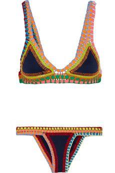 a8b7f8cf702 Finds + Kiini Tasmin crochet-trimmed triangle bikini