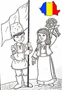 EDUCATIA CONTEAZA: CINE SUNT / SUNTEM - NOI SUNTEM ROMANI - 1 DECEMBRIE (ZIUA ROMANIEI) Coloring Books, Coloring Pages, Transylvania Romania, Youth Activities, Toddler Crafts, Kids Education, 1 Decembrie, Cat Memes, Projects For Kids