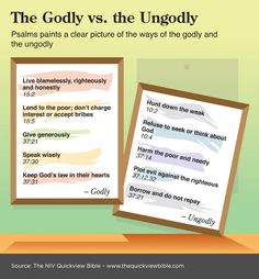 The Quick View Bible » The Godly vs. the Ungodly