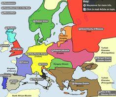 Oei! Deze is gaaf! De site toont overzichtelijk alle staatkundige grenzen en politieke grenzen zien van Europa vanaf 900 voor Chr. Je kunt per historische periode een gebied selecteren.