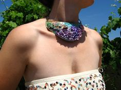 Goldfinch in Lilac and Peach Flowers Adjustable One of a by Herina