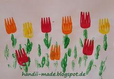 handii made: Tulpen mit Gabeldruck