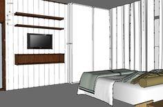Projeto mobiliário- Selma e Robson - Estudo de cor e material.
