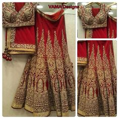 """@vamadesigns bridal lehenga! @vamadesigns we are getting ready with latest designs for 2016! Come see oir exclusive bridal collection! Red bridal lehenga…"""