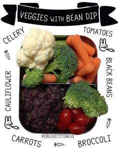 Veggies With Bean Dip | Rebel Dietitian, Dana McDonald, RD