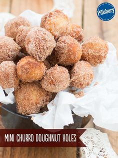Donuts made in 15 minutes? Yes! These Mini Churro Doughnut Holes have us drooling in anticipation. This DIY version of fair food gets an added flavor boost from caramel.