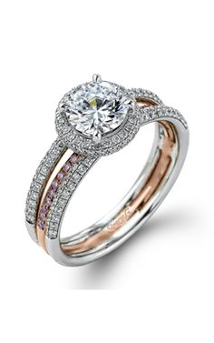 Buy Simon G Engagement ring at Trice Jewelers. As an authorized retailer, all of our Simon G products are backed with a manufacturer warranty. Pink Diamond Jewelry, Fancy, Engagement Rings, Jewels, Stuff To Buy, Beautiful, Products, Rings For Engagement, Wedding Rings