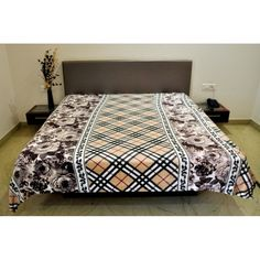 Valtellina Floral With Crossing Design Double Bed Blanket		http://goo.gl/dlRlZq